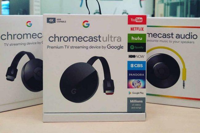 Mise à jour navigateur Chrome et Chromecast